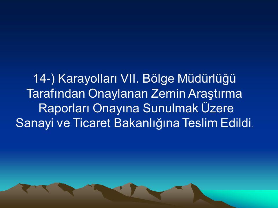 14-) Karayolları VII.