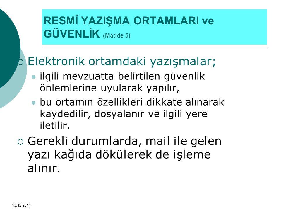 ÖRNEK: 8-EKLER 13.12.2014 Hüseyin ZIRH, Şube Müdürü EKLER: 1- Yazı örneği (...