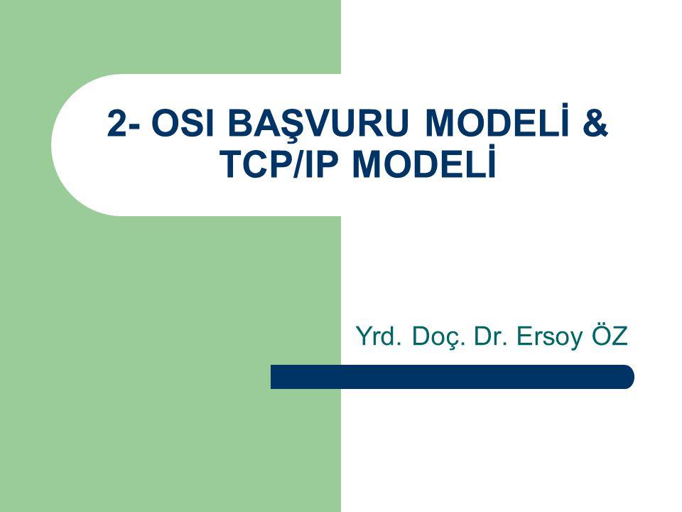 2- OSI BAŞVURU MODELİ & TCP/IP MODELİ Yrd. Doç. Dr. Ersoy ÖZ