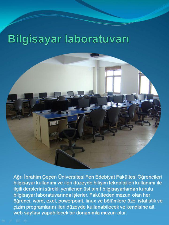Ağrı İbrahim Çeçen Üniversitesi Fen Edebiyat Fakültesi Öğrencileri bilgisayar kullanımı ve ileri düzeyde bilişim teknolojileri kullanımı ile ilgili de