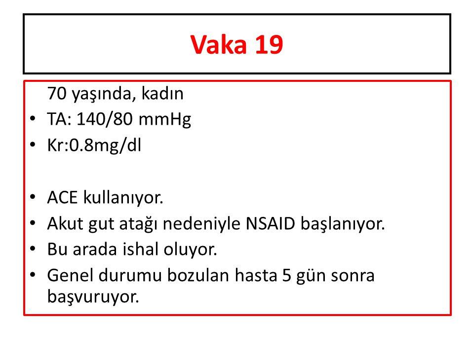70 yaşında, kadın TA: 140/80 mmHg Kr:0.8mg/dl ACE kullanıyor.