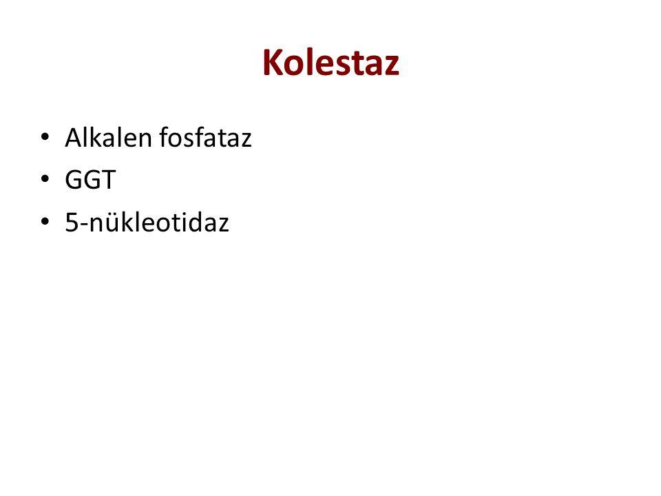 Kolestaz Alkalen fosfataz GGT 5-nükleotidaz