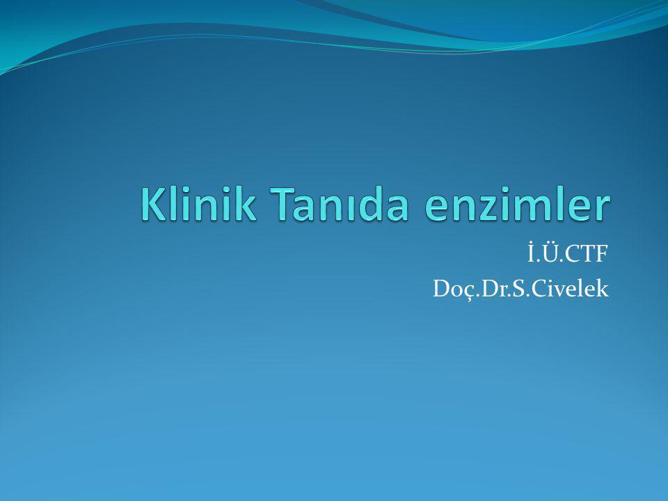Pankreas kaynaklı sindirim enzimleri Amilaz Hidrolazdır Birçok doku ve organda bulunur Bazı akciğer ve over kanserlerinde amilaz akt artar