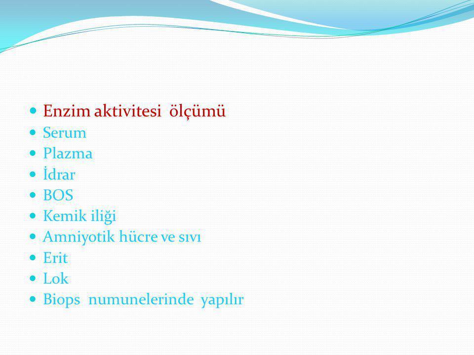 LD-3 (HHMM) Akciğer,lenfosit,dalak,pankreas da Pulmoner emboli Yaygın pulmoner pnömoni Lenfositoz Akut pankreatit Kanser