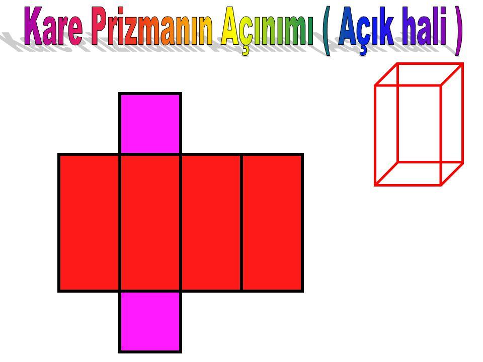 Kare Prizmanın temel özelliği alt ve üst yüzeylerinin birbirine eş karelerden; Yan yüzeylerinin ise birbirine eş dikdörtgenlerden oluşmasıdır. Kare Pr