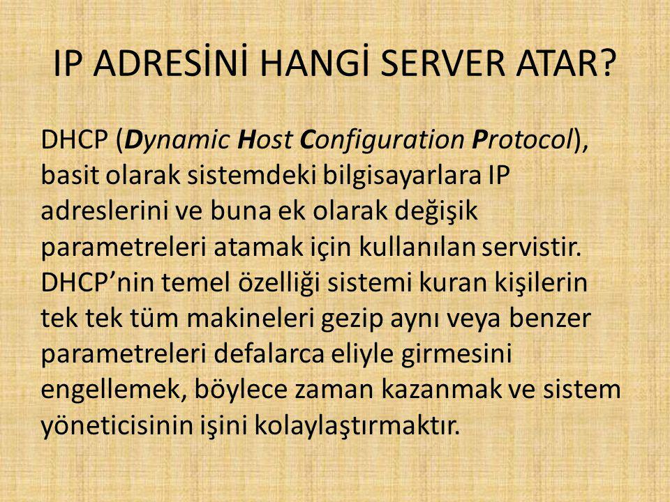 IP ADRESİNİ HANGİ SERVER ATAR.