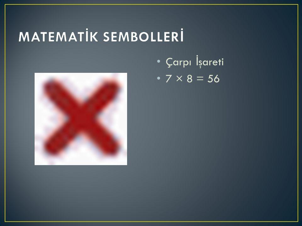 Parantez İ şareti (3 + 2) × (6 - 4)