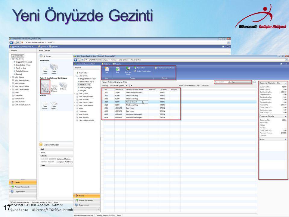 Microsoft Gelişim Atölyesi Kampı 2 Şubat 2010 – Microsoft Türkiye İstanbul Ofisi www.msgelisimatolyesi.com 17