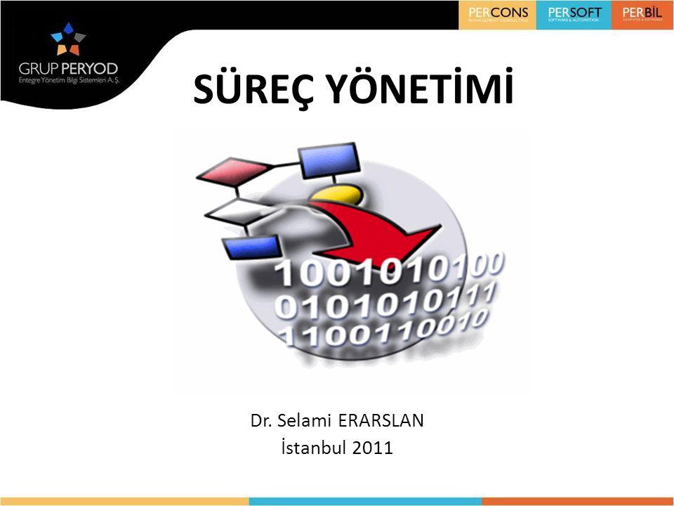 SÜREÇ YÖNETİMİ Dr. Selami ERARSLAN İstanbul 2011