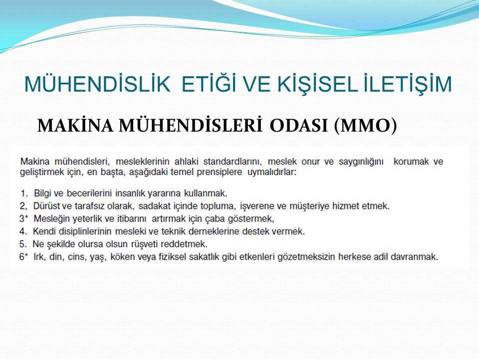 MAKİNA MÜHENDİSLERİ ODASI (MMO)