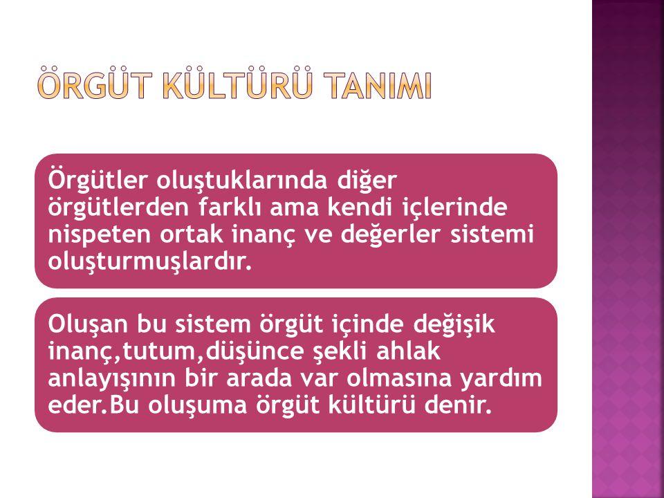 Koruyucu Kültür Tipi: Örgüt muhafazakar inanç ve değerler sahiptir.