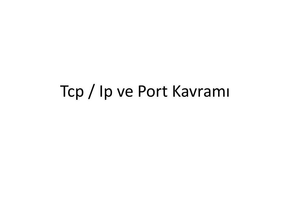 Port Kavramı Bilgisayarların diğer bilgisayarlar ile kolayca haberleşmesi için her bilgisayara ait bir IP adresi mevcuttur.