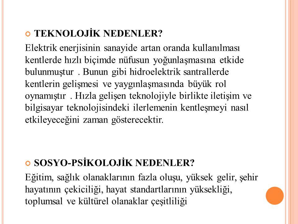 TEKNOLOJİK NEDENLER.
