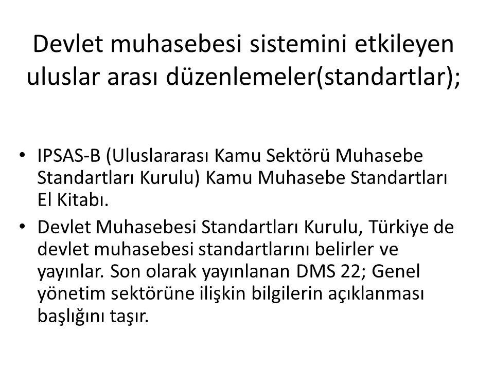 Devlet muhasebesi sistemini etkileyen uluslar arası düzenlemeler(standartlar); IPSAS-B (Uluslararası Kamu Sektörü Muhasebe Standartları Kurulu) Kamu M
