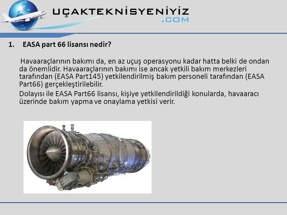 1.EASA part 66 lisansı nedir.