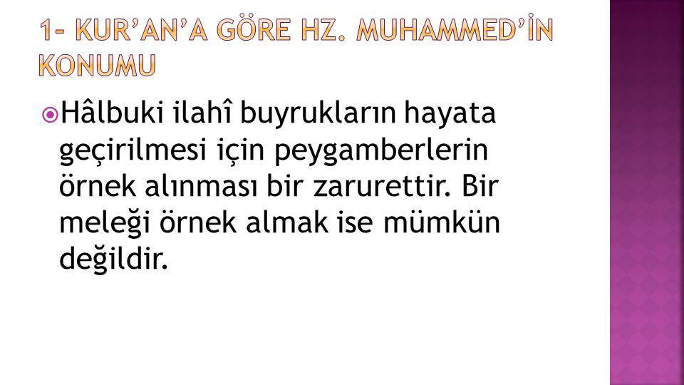  Hz.Peygamberin hayatı, Kur'an'ın yaşanmış hâlidir. sözünü değerlendiriniz.