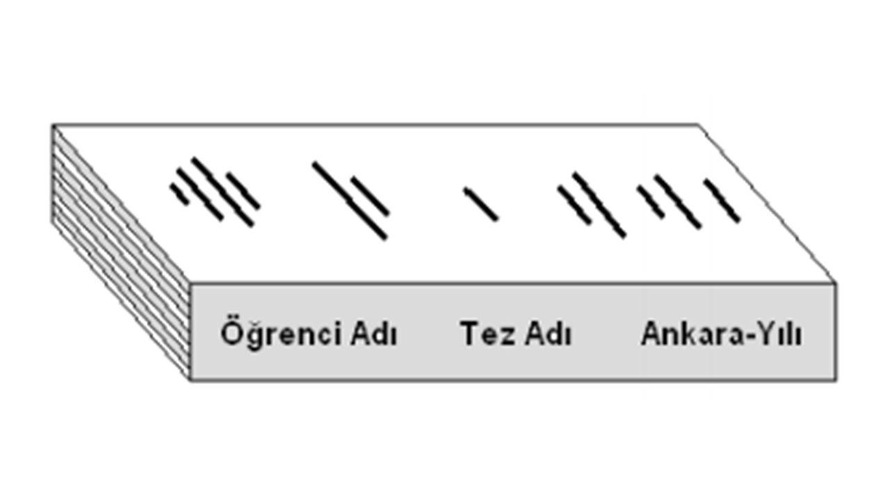 Simgeler ve Kısaltmalar Dizini : Tezde kısaltmalar kullanılmışsa, bunlar alfabetik sıraya göre alt alta dizilir.