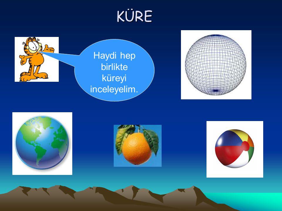 KÜRE Haydi hep birlikte küreyi inceleyelim.