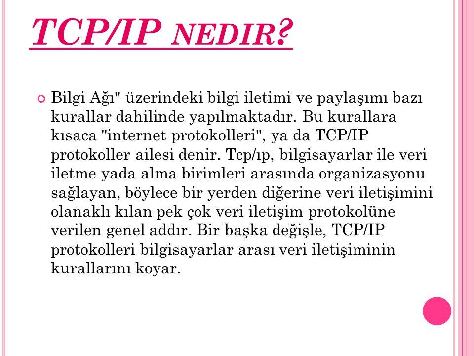 TCP/IP NEDIR ? Bilgi Ağı