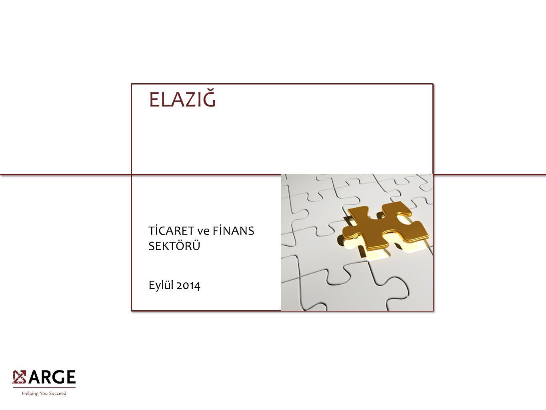 ELAZIĞ TİCARET ve FİNANS SEKTÖRÜ Eylül 2014