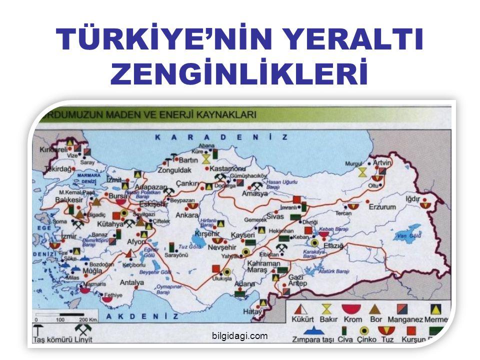 TÜRKİYE'NİN YERALTI ZENGİNLİKLERİ bilgidagi.com