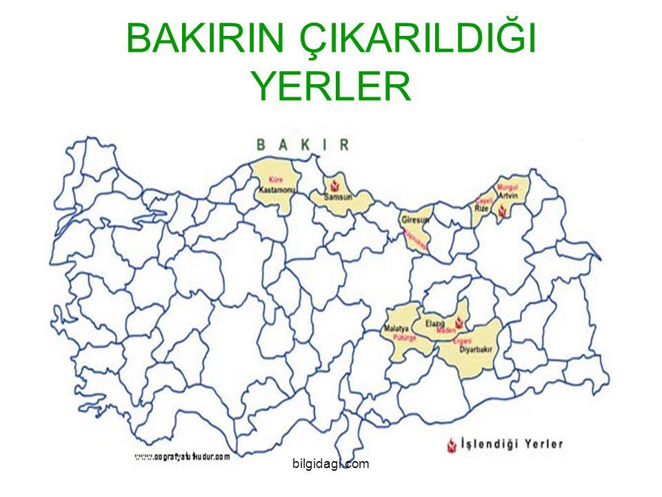 BAKIRIN ÇIKARILDIĞI YERLER bilgidagi.com