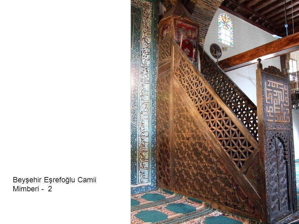 Beyşehir Eşrefoğlu Camii Mimberi - 2