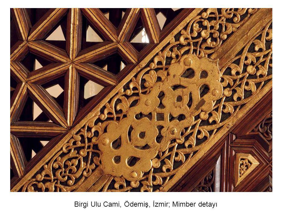 Tire Yahşi Bey Camii (M.1441) Sağ ve Sol Oda kapısı orta panosu