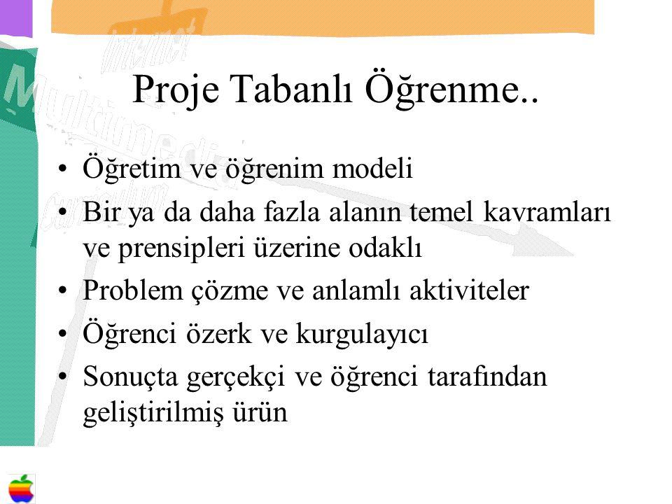 Proje Tabanlı Öğrenme..