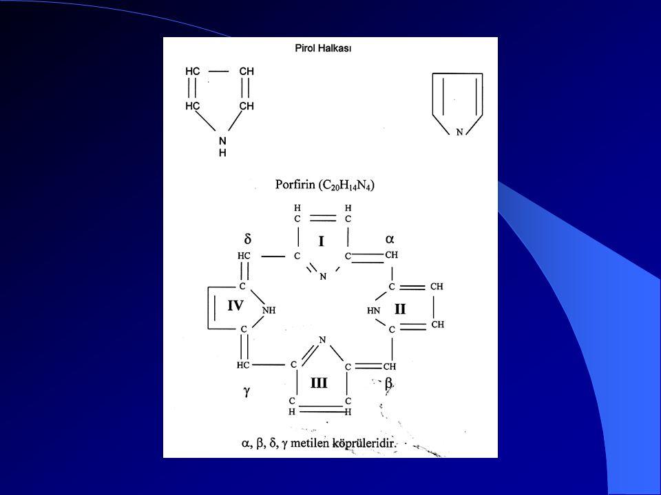 Üroporfirinojen III kosentaz asimetrik olan üroporfirinojen III'ü oluşturur.
