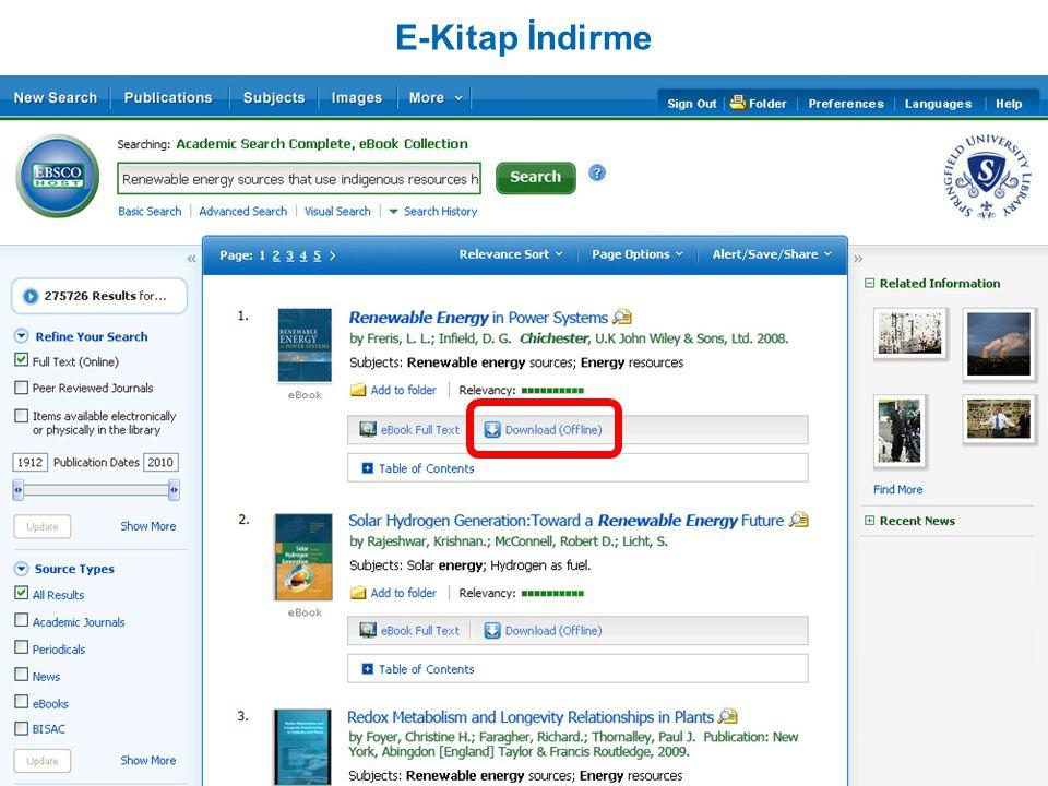 E-Kitap İndirme