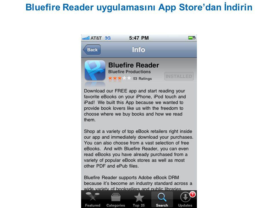 Bluefire Reader uygulamasını App Store'dan İndirin