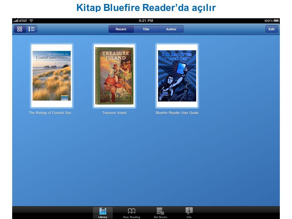 Kitap Bluefire Reader'da açılır ire