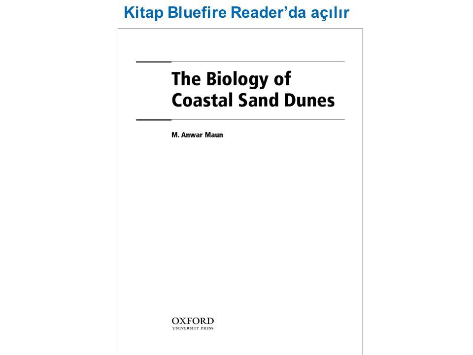 Kitap Bluefire Reader'da açılır