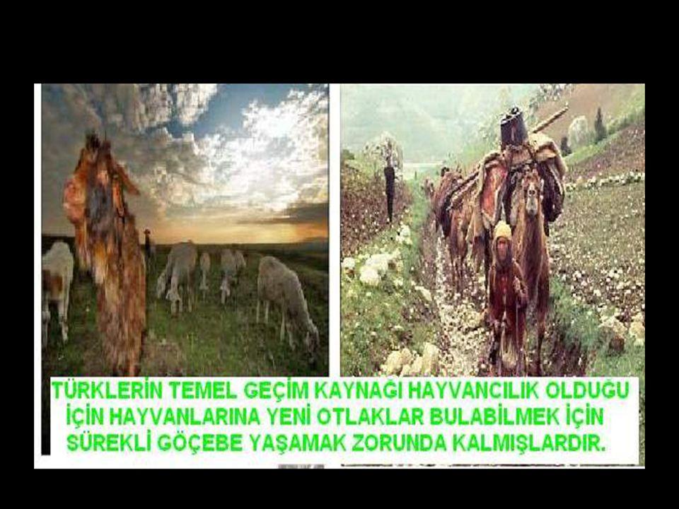 www.evdekisosyalci.com18 ORTA ASYADAN YAPILAN TÜRK GÖÇLERİ Türklerin temel geçim kaynağı HAYVANCILIK'tır. Bu da GÖÇEBE yaşam tarzını beraberinde getir