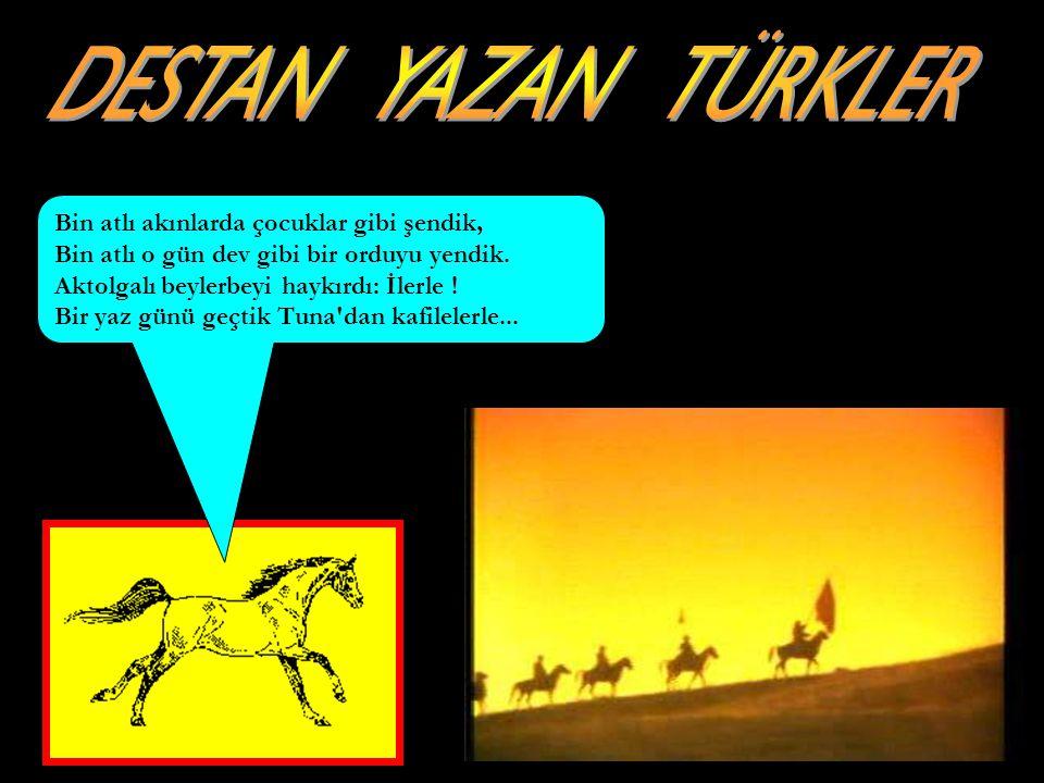 www.evdekisosyalci.com12 OĞUZ KAAN DESTANI Gün, Ay ve Yıldız çok av hayvanı ve kuş avladıktan sonra yolda bir altın yay buldular.