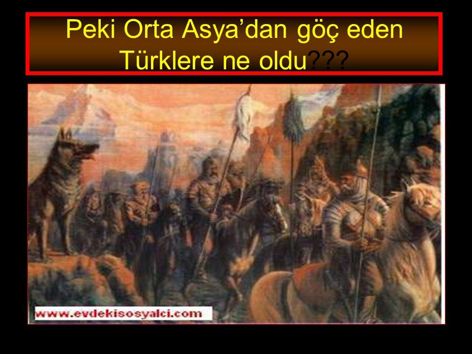 www.evdekisosyalci.com30 TÜRKLERİN HEPSİ ORTA ASYADAN GÖÇ ETTİ Mİ? Tabi ki Türklerin hepsi Orta Asya'dan tamamen göç etmediler. Bir kısmı Orta Asya'da