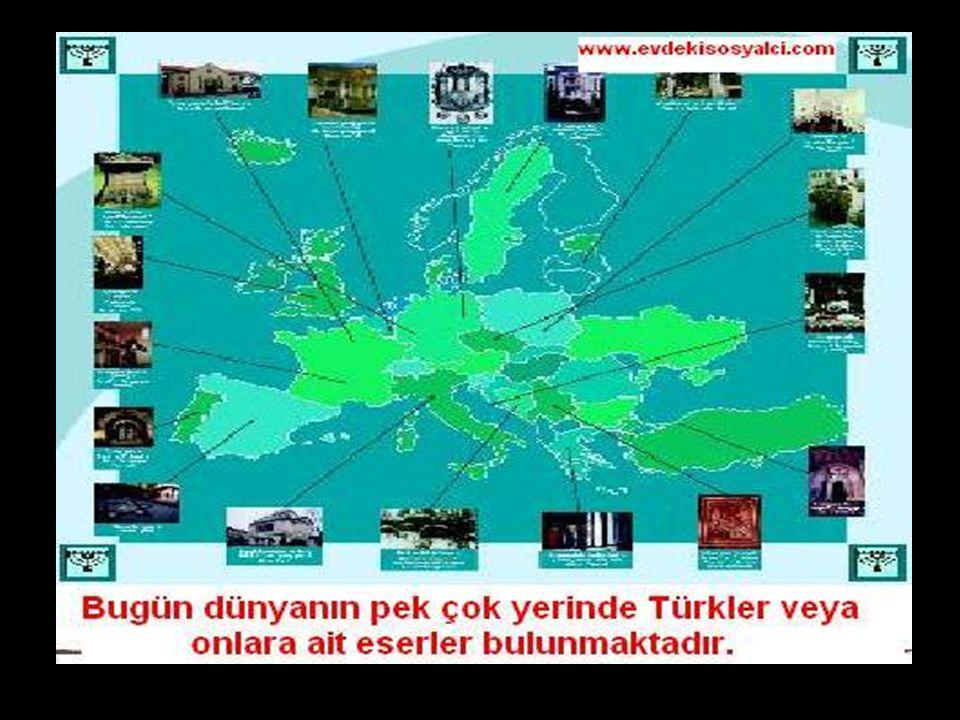 www.evdekisosyalci.com32 Orta Asya'dan göç eden Türklerin çoğunluğu gittiği ülkelerden kendi kimliklerini unutmuş ve o ülkelerin insanları arasına kat