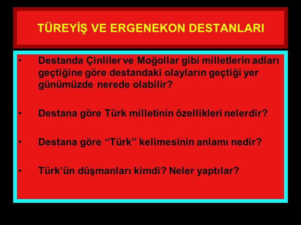 www.evdekisosyalci.com61 TÜREYİŞ VE ERGENEKON DESTANLARI Aradan yıllar geçti, Türkler buraya sığmaz oldular. Artık Ergenekon adı verilen bu kutlu yurt