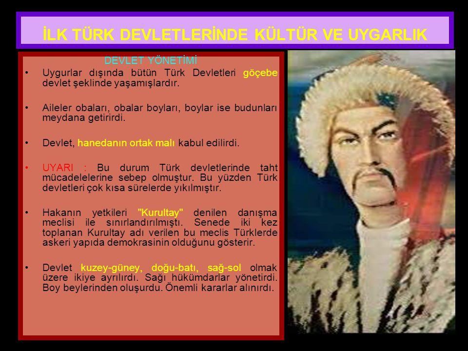 www.evdekisosyalci.com65 UYGURLAR Yerleşik yaşamı benimseyen ilk Türk topluluğudur. Budizm ve Maniheizm'i benimsediler. Çin'den sonra matbaayı gelişti