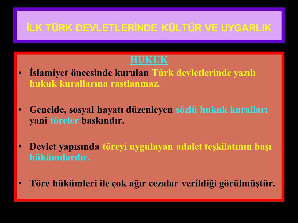 www.evdekisosyalci.com66 İLK TÜRK DEVLETLERİNDE KÜLTÜR VE UYGARLIK DEVLET YÖNETİMİ Uygurlar dışında bütün Türk Devletleri göçebe devlet şeklinde yaşam