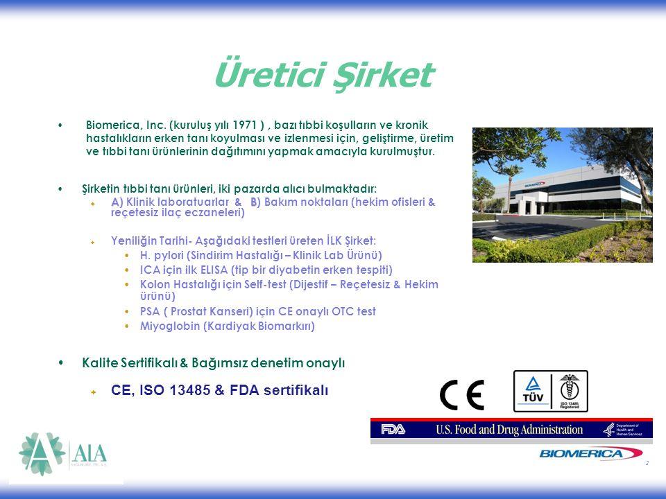 2 Üretici Şirket Biomerica, Inc.