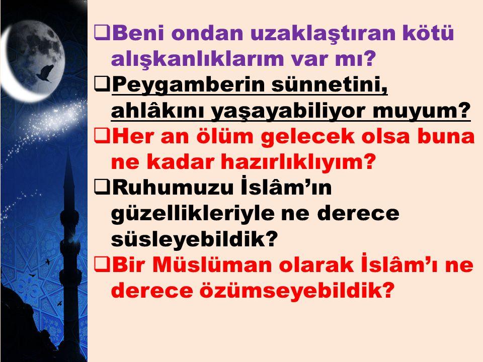 Gönlümüzü, gecelerimizi, geleceğimizi ve geçmişlerimizi Kuran'ın nuruyla nurlandıralım.