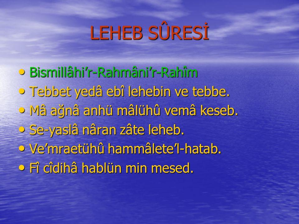 NASR SÛRESİNİN MEÂLİ Rahmân ve Râhim Olan Allâh'ın Adıyla..