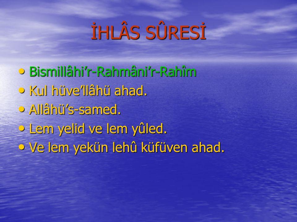 LEHEB SÛRESİNİN MEÂLİ Rahmân ve Râhim Olan Allâh'ın Adıyla..