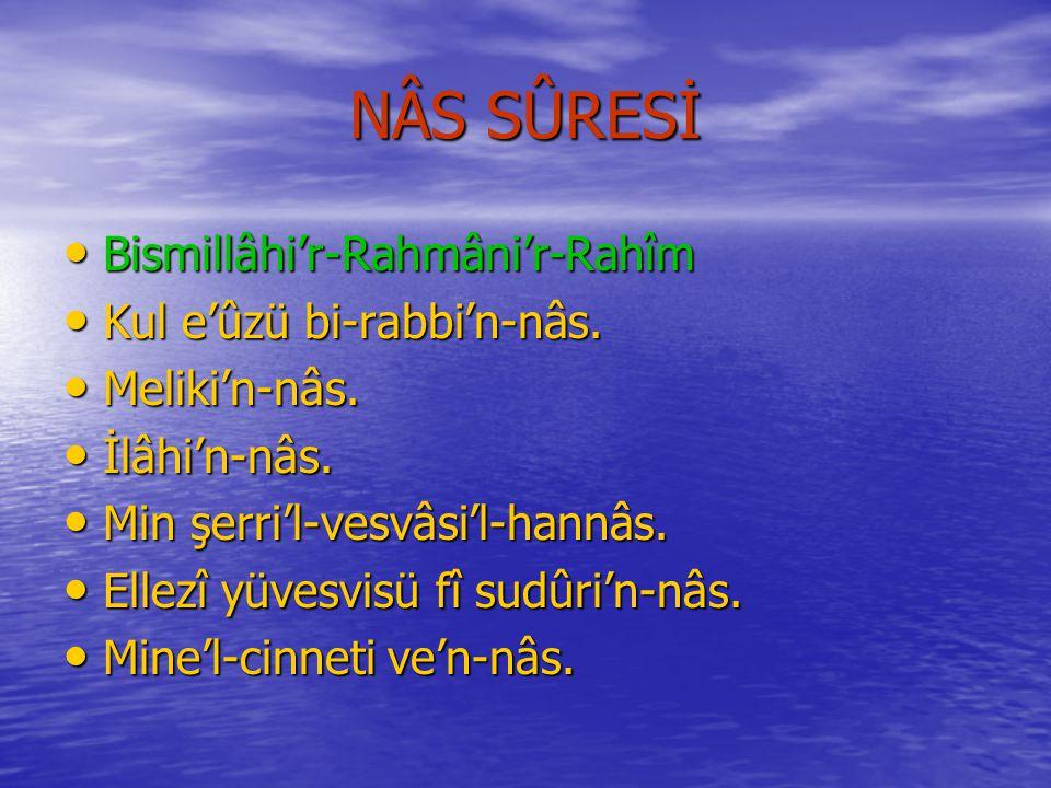 FELAK SÛRESİNİN MEÂLİ Rahmân ve Râhim Olan Allâh'ın Adıyla..