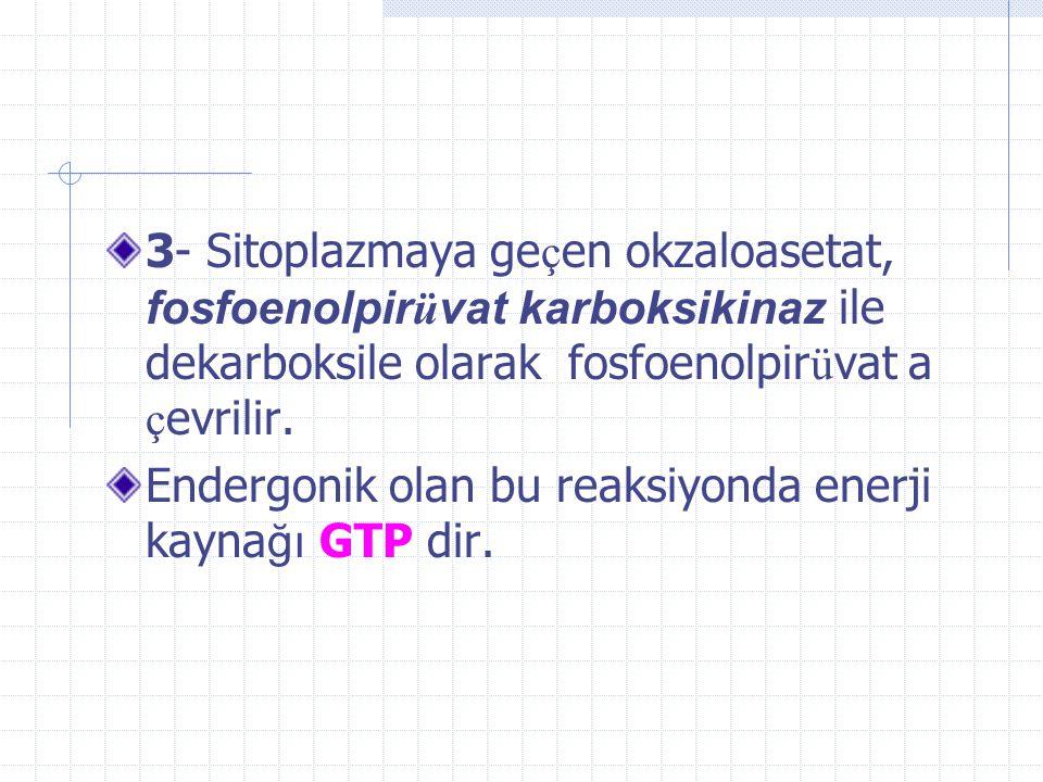 2*) OAA, mitokondrial aspartat transaminaz ile aspartata ç evrilirek mitokondriden sitoplazmaya ge ç er ve bu kez sitoplazmik aspartat transaminazla OAA a d ö n ü ş t ü r ü l ü r.