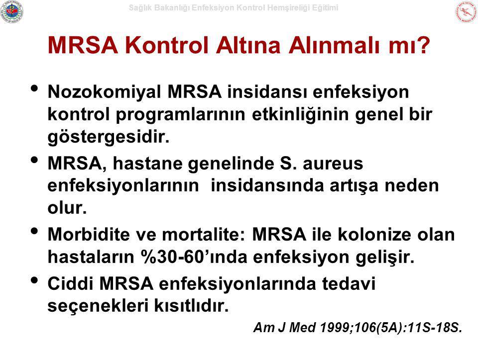 MRSA Kontrol Altına Alınmalı mı? Nozokomiyal MRSA insidansı enfeksiyon kontrol programlarının etkinliğinin genel bir göstergesidir. MRSA, hastane gene