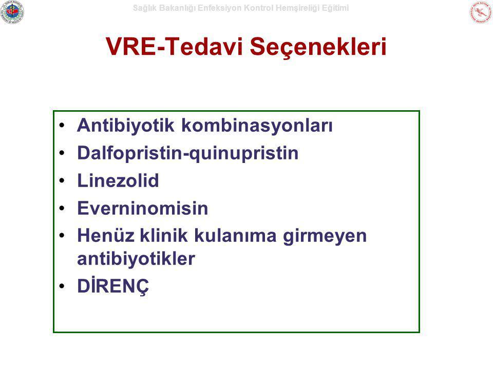 Sağlık Bakanlığı Enfeksiyon Kontrol Hemşireliği Eğitimi VRE-Tedavi Seçenekleri Antibiyotik kombinasyonları Dalfopristin-quinupristin Linezolid Evernin