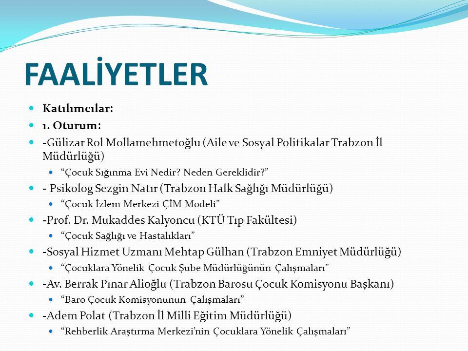 FAALİYETLER 2.Oturum -Prof.Dr. Selim Özkök (Aydın Adli Tıp Fak.